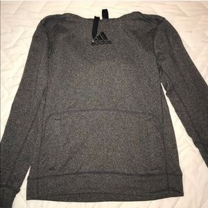 Gray Adidas Hoodie Sz L Great Condition
